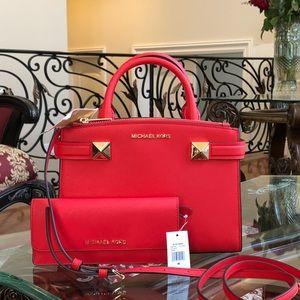 Michael Kors Karla ew small satchel&wallet set